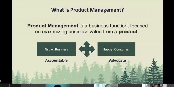 Product Management Guest Lecture at SIDTM